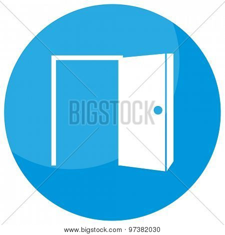 An image of an opportunity, open door business icon.