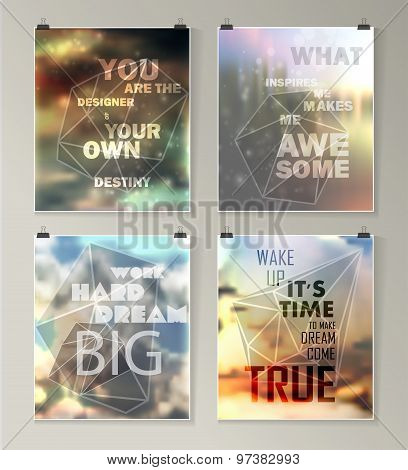 Quote Typographical galaxy Background