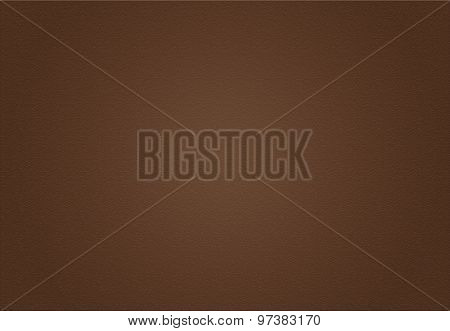 Empty brown leather well use as background vignette border frame. Earth Tone.