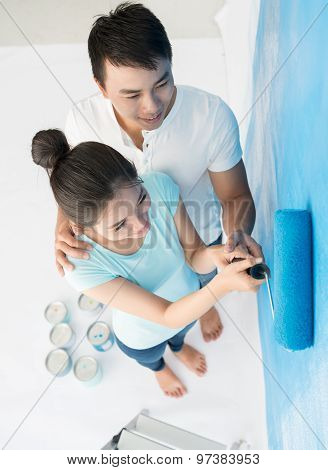 Painting together