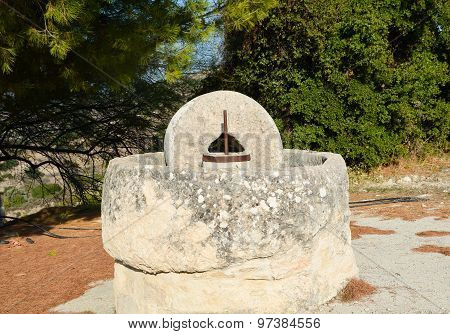 Ancient Stone Press In Cyprus