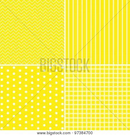 Vector Set Of 4 Background Patterns.