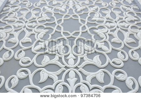 Floral motif pattern made from GRC at Puncak Alam Mosque