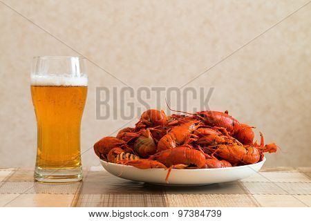 Prepared Crayfish With Beer