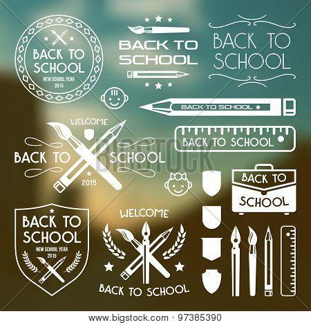 Back To School Badges Set