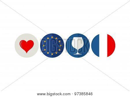 France. Icon set