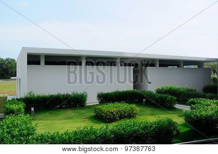 Toilet building of Puncak Alam Mosque at Puncak Alam, Selangor, Malaysia