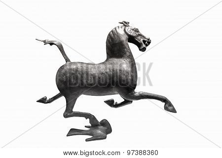 Ancient Bronze Horse Isolated