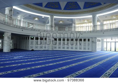 Interior of Puncak Alam Mosque at Puncak Alam, Selangor, Malaysia