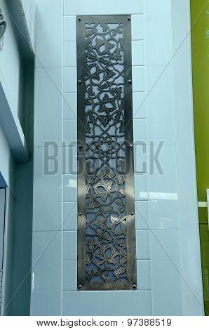 Wall pattern at Puncak Alam Mosque at Puncak Alam, Selangor, Malaysia