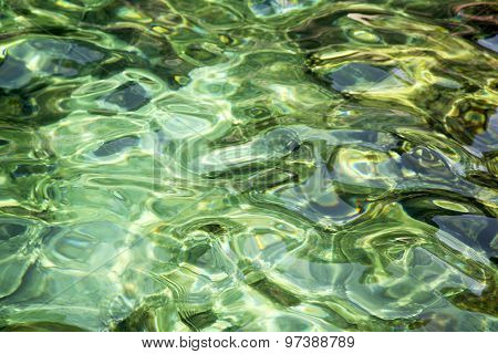 Thailand Kho  O Bay Abstract Of A Blue Lagoon In
