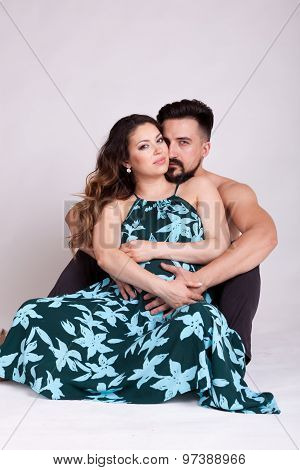 Happy Pregnant Woman With Her Husband