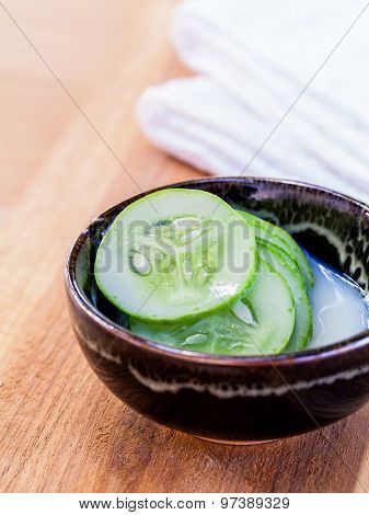 Natural Spa Ingredients . - Cucumber Homemade Natural Facial Toner.