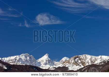 Clouds in Partacua Mountains, Tena Valley, Pyrenees, Huesca, Aragon, Spain.