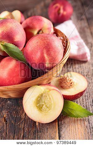 peach and leaf