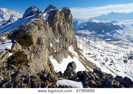 Foratata peak in the Pyrenees, Tena Valley, Huesca, Aragon, Spain.