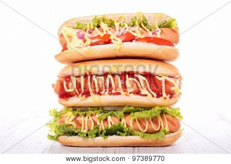 assorted hot dog