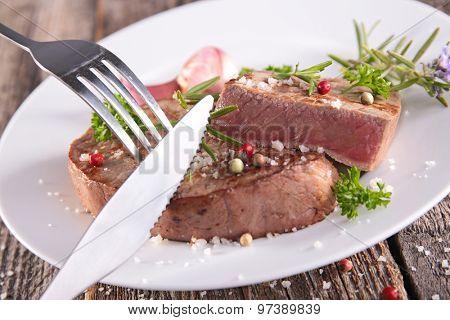 grilled steak beef