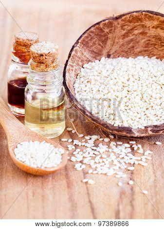 Sesame - Natural Spa Ingrediente For Scrub And  Skin Care.