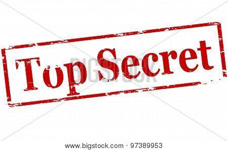 Rubber stamp with text top secret inside vector illustration