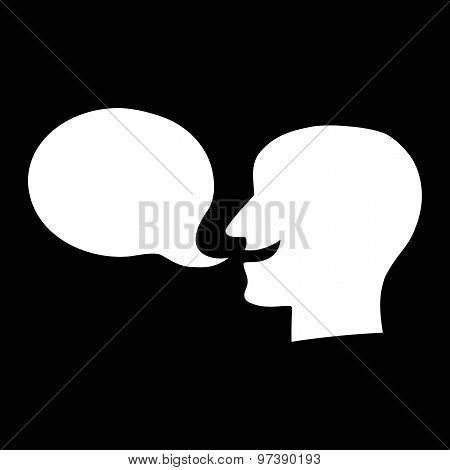 Talking Person Silhouette