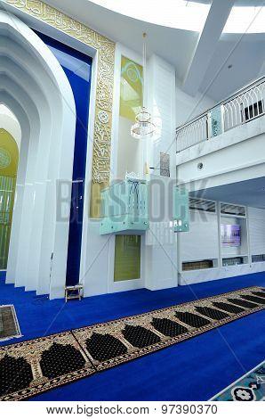 Mimbar of Puncak Alam Mosque at Selangor, Malaysia