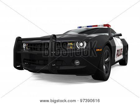 Police Car Isolated