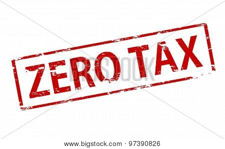 Rubber stamp with text zero tax inside vector illustration
