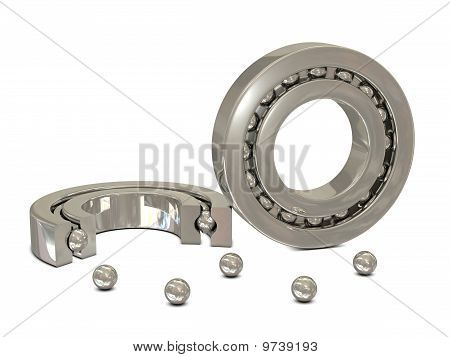 Ball bearings cross section