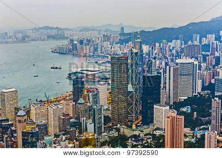 Skyline Of Hong Kong