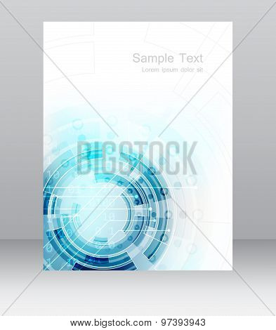 Abstract business flyer template brochure or corporate banner