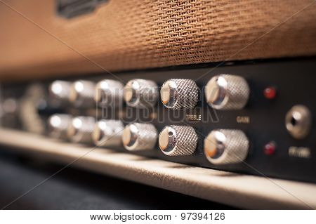 Guitar Amplifier Knobs Detail
