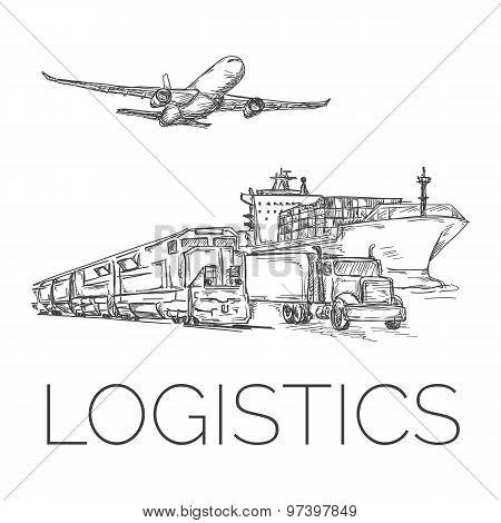Logistics sign