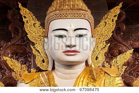 Big Buddha In Ngahtatkyi Pagoda Temple In Yangon, Myanmar (burma) They Are Public Domain Or Treasure