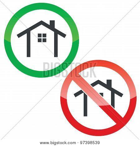 Cottage permission signs set