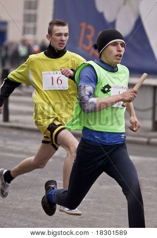 YEKATERINBURG - MAY 2: 75 th traditional relay race