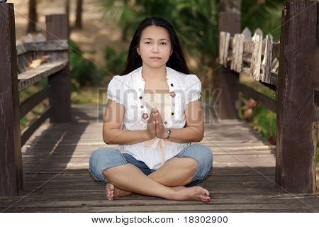 Asian Woman Yoga