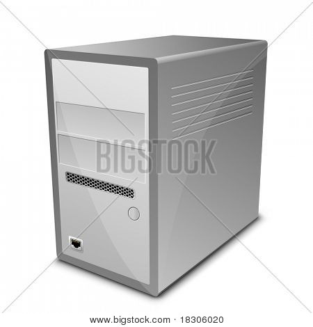 Vector illustration of computer server