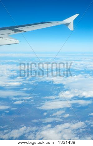Airplane View - Blue Sky