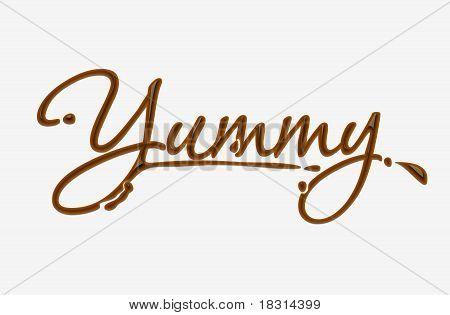 Chocolate Yummy Text