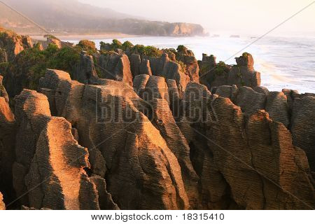 Pancake Grand Canyon Rock At West Coast Beach New Zealand