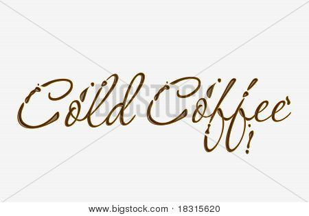 Chocolate Cold Cofee Text