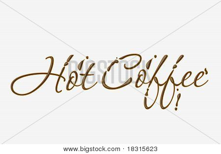 Chocolate Hot Cofee Text