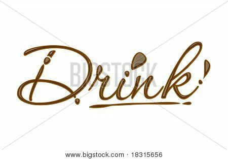 Chocolate Drink Text