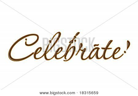Chocolate Celebrate Text