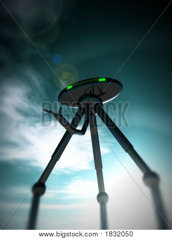 Alien Tripod And Sky