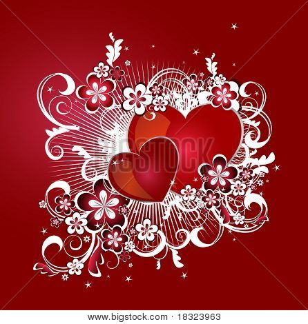 background with heart for valentine day