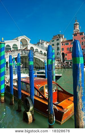 Venice, Italy - March 05, 2011: Peoples Watching The Grand Canal From Rialto Bridge During The World