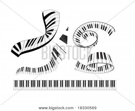 set of abstract piano keyboard