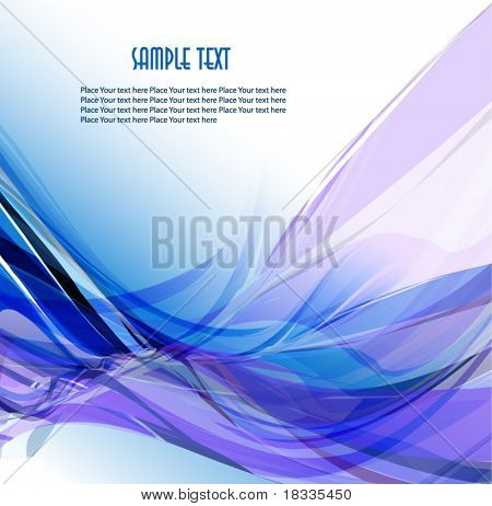 Abstract wavy vector design